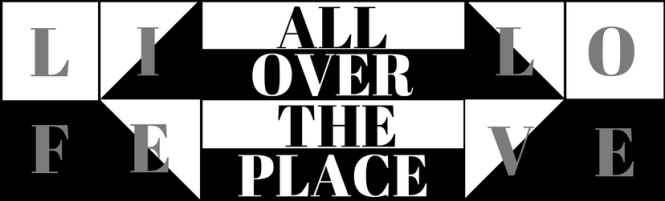 All over the place graphic